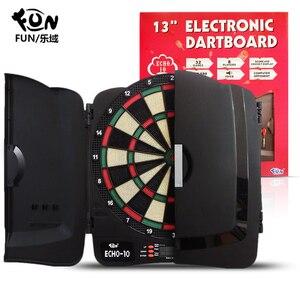 Juego de tablero de dardos electrónico FUN home, dardos de seguridad suaves con marcador, juego multijugador para adultos y niños