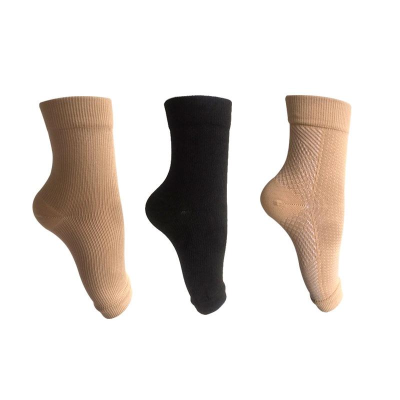 Ноги Анти-усталость компрессия рукав лодыжки поддержки носки с открытыми пальцами подошвенный фасциит облегчение боли