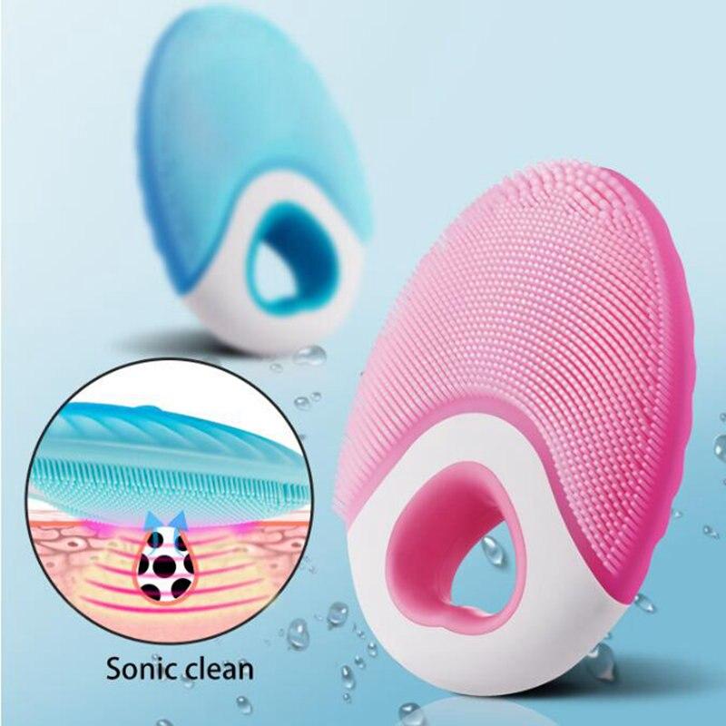Pallus Elektrische Gesichts Reinigung Pinsel Silikon Reiniger Wasserdichte USB Lade Hautpflege Massager