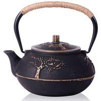 Chaleira de bule de ferro fundido japonês com infusor de aço inoxidável/filtro  flor de ameixa 30 onça (900 ml)|Bules| |  -