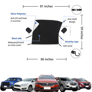 Image 5 - Car windshield snow cover Rear View Mirror Cover universal car cover SUV/small car/truck winter windshield cover sun shade