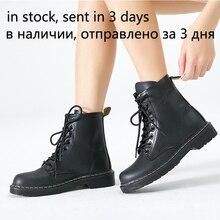 Damskie botki zimowe ciepłe jeździeckie buty jeździeckie kobieta futro wewnątrz sztucznej skóry wiązane buty platforma plus rozmiar 43 44