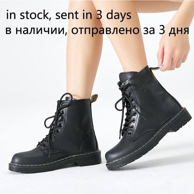 Vrouwen Enkellaarsjes Winter Warm Rijden Equestr Schoenen Vrouw Bont Binnenkant Kunstmatige Lederen Lace Up Schoenen Platform Plus Size 43 44