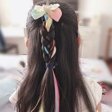Barrettes Hairpins Headdress Hair-Accessories Braid Fake-Hair Kids Girls Children Wig