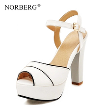 NOEBERG  woman Platform Sandals Women Soft Leather Casual Open Toe Gladiator wedges Trifle Mujer Women Shoes Flats Summer shoes цены онлайн