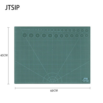 JTSIP Double Sided PVC Cut Pad A1/A2/A3/A4 Handmade DIY Accessory Cutting Plate Patchwork Tool Cutting Pad Large Art Carving Mat
