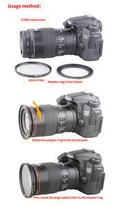 Image 4 - Gran oferta de 49mm 52mm 49 55mm 49 58mm 49 62mm 49 67mm 49 72mm 49 77mm 49 82mm filtro de anillo reductor conjunto de todos los adaptadores de cámara