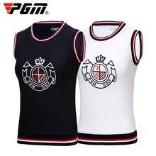 Vest Sports-Wear Outdoor Women PGM Spring Sleeveless T-Shirt Tops Team-Uniform V-Neck