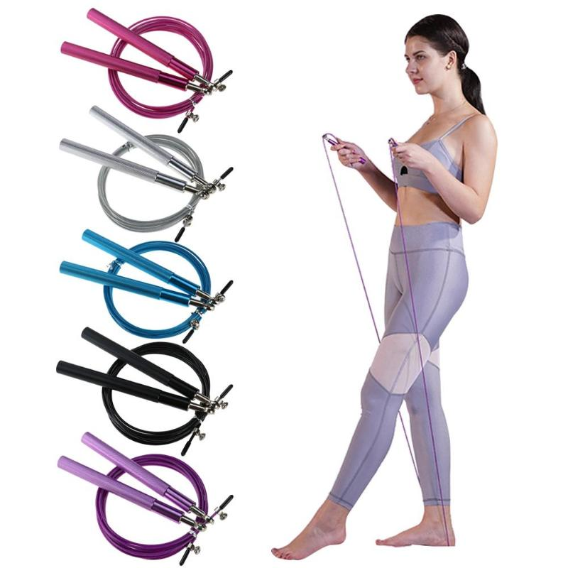 Jump Ropes Skillful Manufacture Adjustable Skip Rope Aluminum Handle Steel Wire Speed Skipping Rope Jump Rope