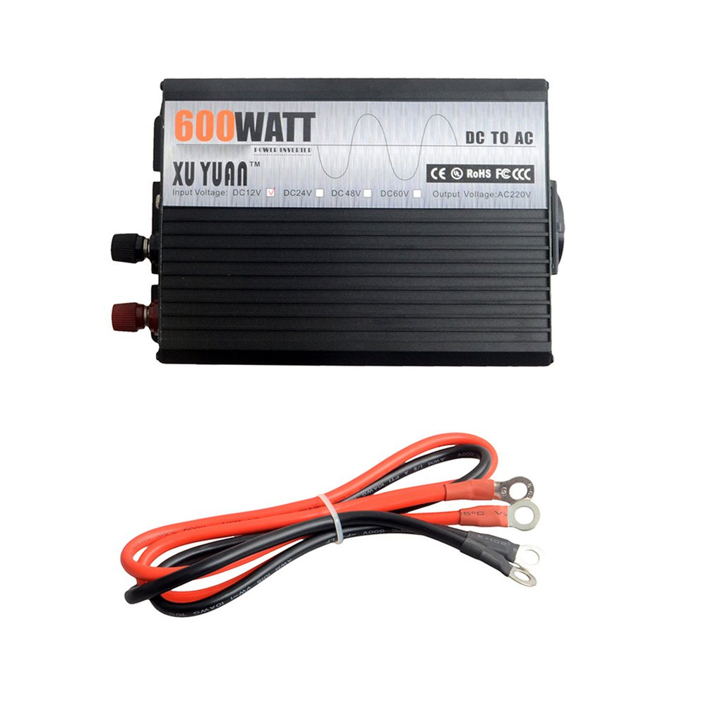 <font><b>3000W</b></font> <font><b>12V</b></font>-220V Car Power <font><b>Inverter</b></font> Converter Charger Adapter Pure Sine Wave with EU Plug Intelligent protection image
