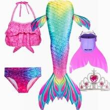 Купальник бикини с хвостом русалки для девочек комплект плавания