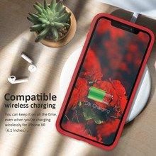 DATALAND original liquid silicone phone case for iPhone 6 6S 7 8 Plus X XR XS Max iphone Soft TPU Phone Back Cover Shell