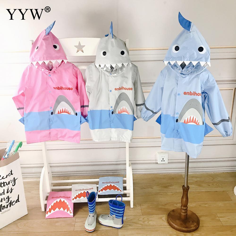1PCS Cute Printed Children Raincoat Waterproof Rainwear Outdoor Hiking Rain Cover For 2-12 Years Old Capa De Chuva