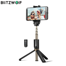 BlitzWolf BW BS3 3 in 1 Wireless bluetooth Selfie Stick Tripod Mini Extendable Monopod Universal For