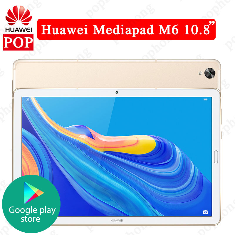 Huawei WIFI Tablet Fingerprint Octa Core Google Android 9.0 Kirin Play Original M6 7500mah