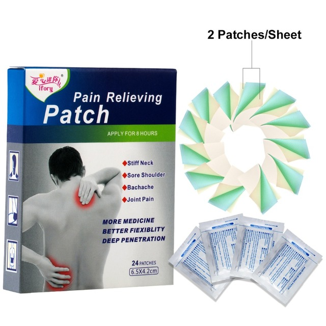 ifory 24 Pieces/Box Menthol Analgesic Plaster Same as Salonpas Pain Patch Relief Muscle Aches Treatment Herbal Pain Patch 1