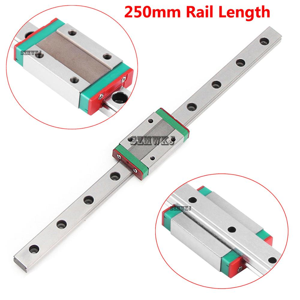 12mm Miniature Linear Slide Rail Guide MGN12H Sliding Block DIY CNC 3D Printer