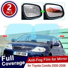 Espelho para retrovisores de toyota corolla, para motos toyota corolla 2000 ~ 2006 e120 e130 120 130, capa completa antiembaçante acessórios para filmes de nevoeiro