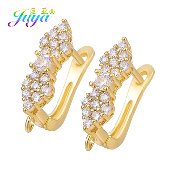 Juya DIY Women Earring Fittings Supplies Gold/Silver Color Creative Hooks Accessories For Fashion Jewelry Making