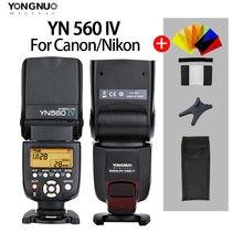 Yongnuo yn560 iii iv yn560iii yn560iv 2.4g sem fio mestre & grupo flash speedlite para nikon canon pentax olympus sony câmera