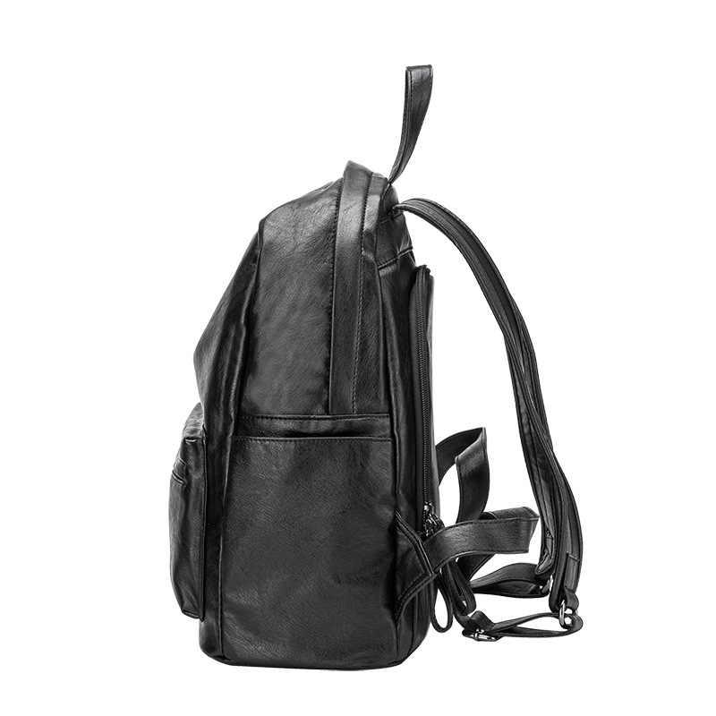Rugzak Vrouwen Vrouwelijke Lederen Rugzakken Purse Mode Schooltassen Voor Vrouwen Rugzakken Schooltassen Reizen Dual-Gebruik C1153