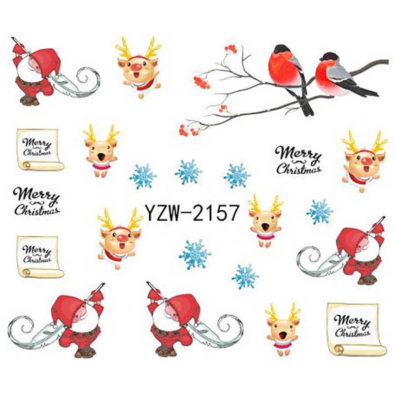 1 Ga Santa Điều Khoản Móng Tay Nghệ Thuật Dán Giáng Sinh Móng Thiết Kế Nghệ Thuật Đề Can Dán Tuyết Người Santa Điều Khoản Hoa Văn Móng Nghệ Thuật miếng Dán