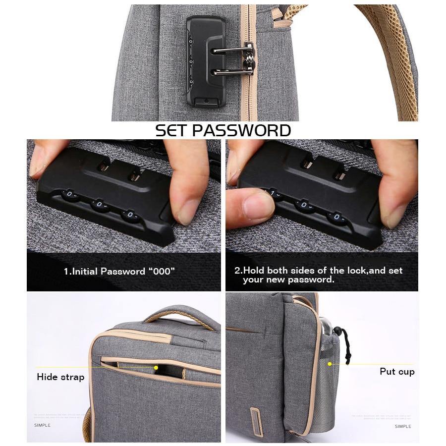 Image 5 - Stylish Slim 15.6 Inch Laptop Backpack Men Office Work Business  Backpacks 2019 Unisex Black Ultralight School Bags for Boys  ThinBackpacks