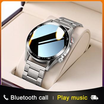 E1-2 inteligentny zegarek mężczyźni połączenie Bluetooth niestandardowe pokrętło w pełni dotykowy ekran wodoodporny Smartwatch dla androida IOS nadajnik sportowy Fitness tanie i dobre opinie PRETTYLITTLE CN (pochodzenie) Brak Na nadgarstku Wszystko kompatybilny 128 MB Passometer Fitness tracker Uśpienia tracker