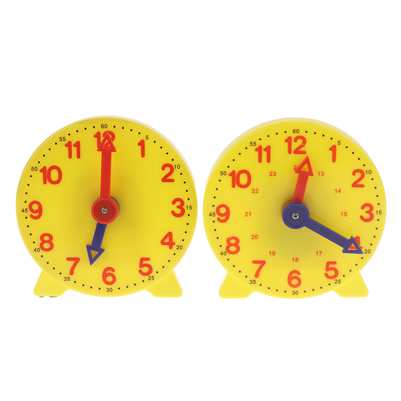 3 Styles Montessori Student Learning Clock Time Teacher Gear Clock 4 Inch 12/24 Hour