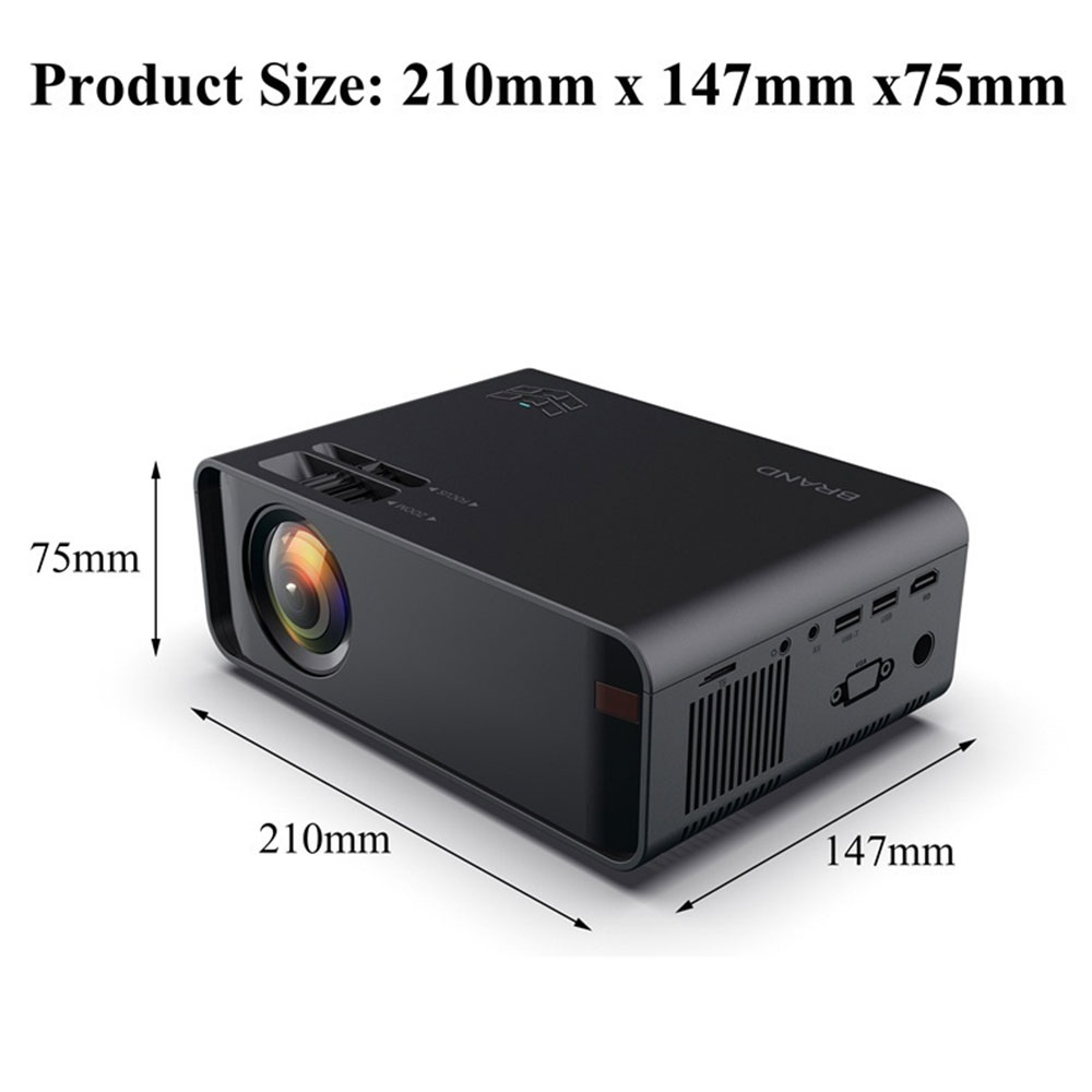 W80 HD home projector HDMI/AV/USB/SD/VGA support Dolby sound cable /wireless same screen version Projector for Home Cinema - 3