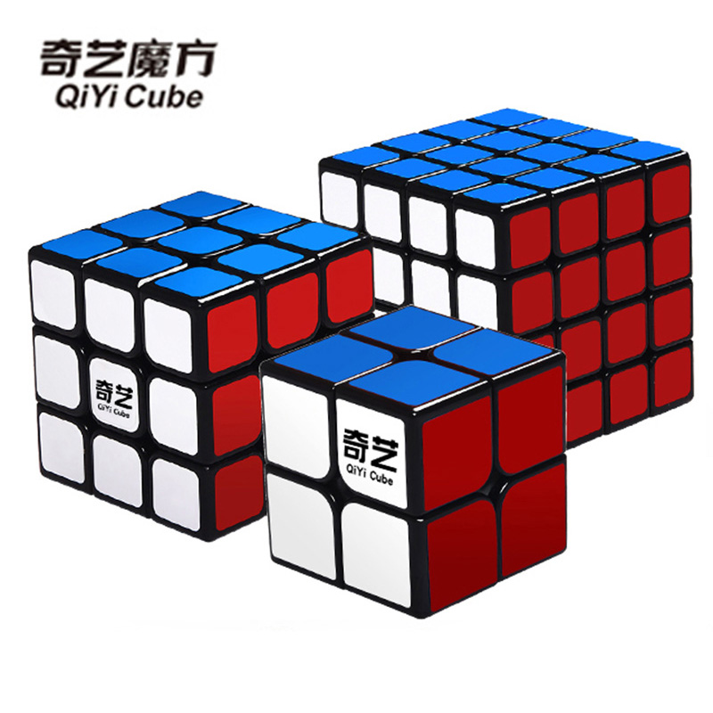 QIYI Magic Cube 2x2x2 3x3x3 4x4x4 Cubo Magico Professional Stickers & Bright Solid Color Puzzle Speed Cube Toys For Children