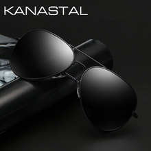 Men's Retro Polarized Sunglasses Driving Glasses Black Aviation
