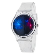 Fashion Design Quartz Silicone Wrist Watches Casual Style Transparent Watchband