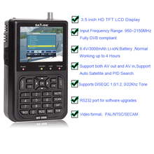 3.5 pollici LCD Satlink WS 6906 Finder DVB S Digital Satellite Meter Finder DVB S Digital Satellite Meter Full FTA finder