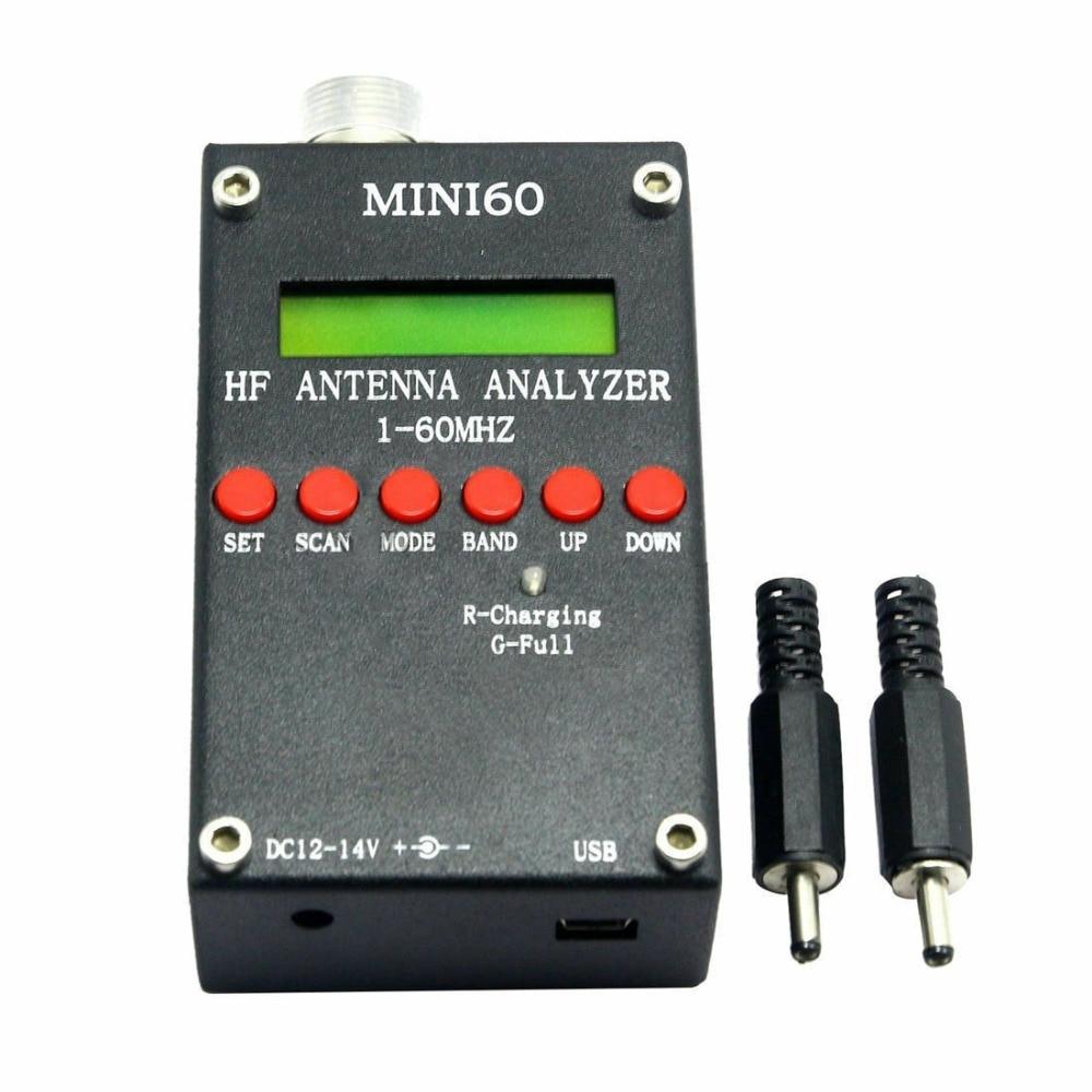 Mini60 Sark100 1-60MHz HF ANT SWR Antenna Analyzer Meter + Bluetooth + Android APP + Battery +PC Software For Ham Radio Hobbists