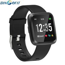 BingoFit Smart Bracelet Fitness Tracker Wristband Activity Blood Pressure Monitor GPS Fit for Men Women Watch