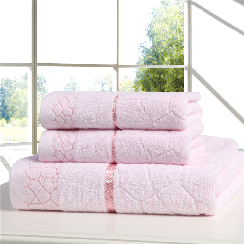 "Hand Towels 3Piece Bath Towels Fast drying Machine Washable 100% Cotton Set Bathroom Lightweight soft 28""x55"""