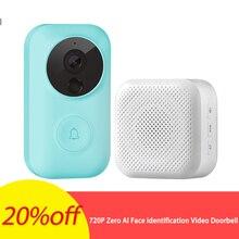 Безопасность 720P HD zero AI идентификация лица ИК Видео дверной звонок набор обнаружения движения домофон бесплатное Облачное хранилище голосовое зарядное устройство Talk