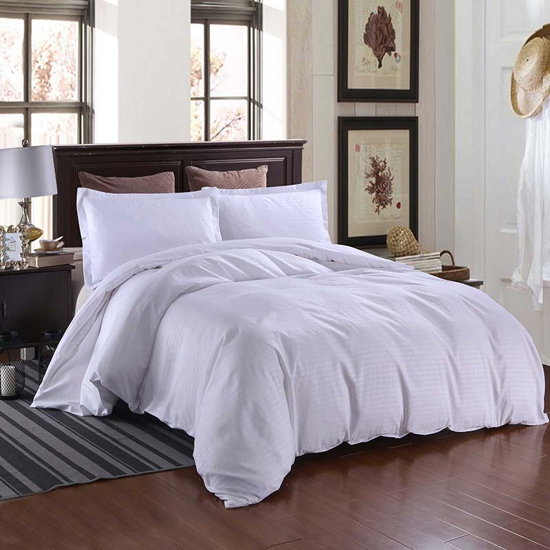 Yimeis Bed Linen Satin Solid Color Double Bedding King Size Bedding Set BE47203