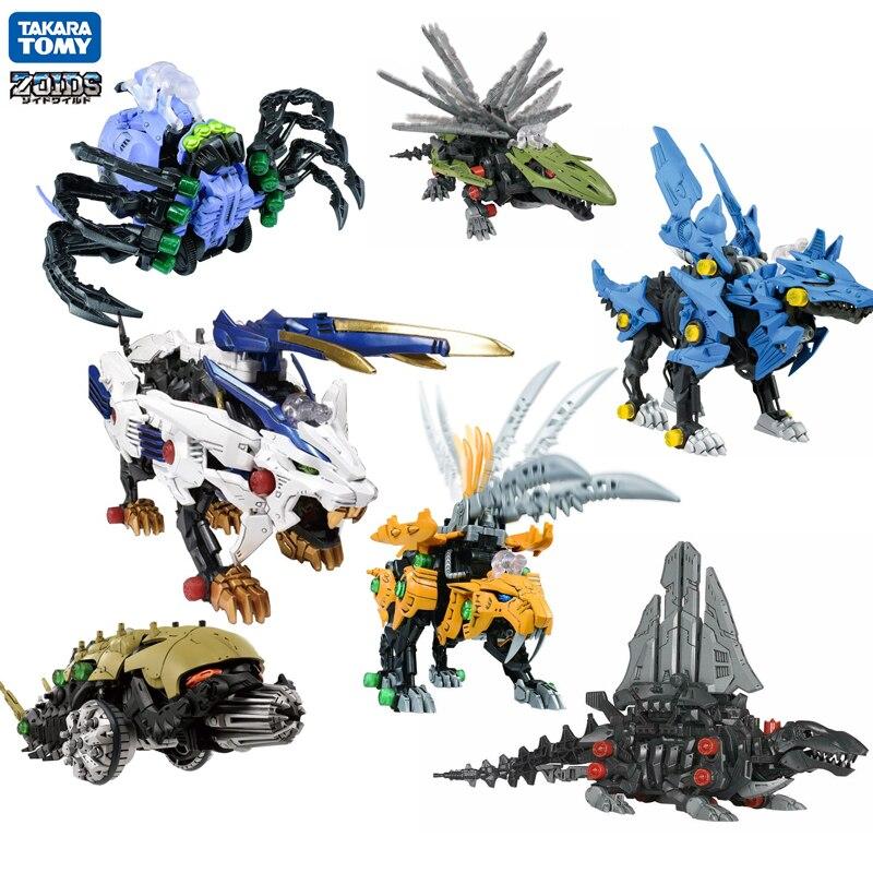 ZOIDSTAKARA TOMY Saussian Beast  Awakening Action Figure Dragon Transformation Robot Children Toys Gifts Ranger Megazord