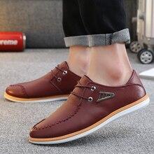 Moda agradable Zapatos casuales de cuero cómodos hombres hechos a mano Vintage Zapatos planos con cordones Pop Nice chaissure Homme Ete 2121 Zapatos