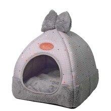 Съемный Камуфляжный домик для собак, зимняя теплая кровать для питомца кошек, Игровая палатка, машинная стирка, гнездо для маленьких собак