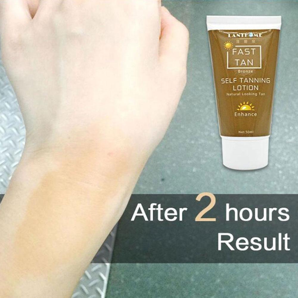 1 Pcs Tanning Cream Self-tanning Sunscreen Cream Tanning Salon Bronze Body Sunscreen Makeup Foundation Fast Spray Lotion 2