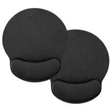 2 шт черный пены памяти коврик для мыши с подушечкой на запястье
