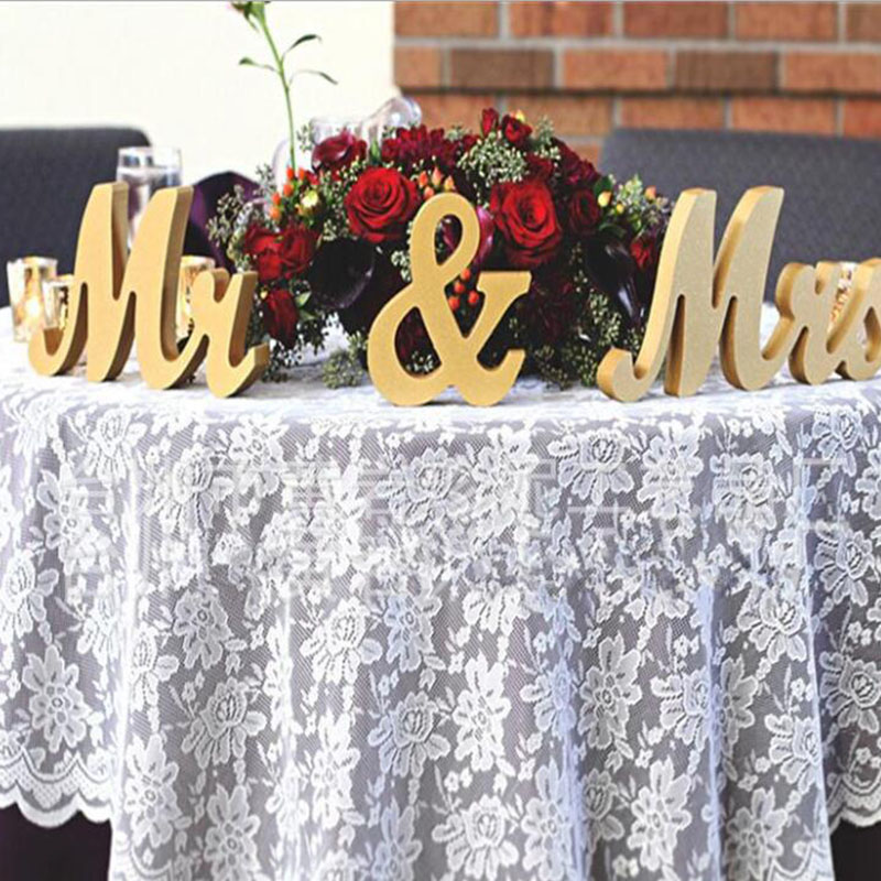 Wooden MR & MRS Wedding Sign Wedding Table Numbers Letters Elegant Sweetheart and Reception Top Table Sign Wedding Decoration