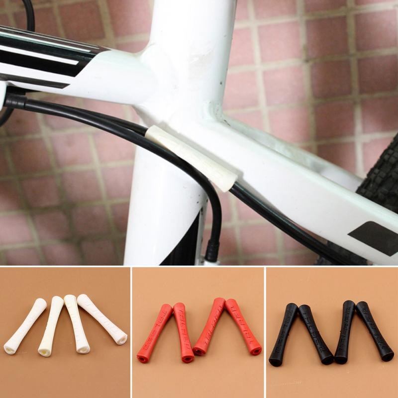 4pcs//lot Bike Shift Brake Rubber Bicycle Cable Protector Line Pipe Sleeve