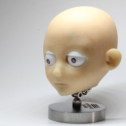 silicone head with adjustable constructure inside for eye,mouth,eyebrow,eyelip movements for stop motion puppet