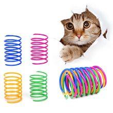 8 pces gato colorido primavera brinquedo criativo plástico flexível gato bobina brinquedo gato brinquedo interativo gato brinquedo engraçado animal de estimação brinquedo favor produto do animal de estimação
