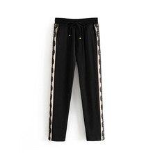 купить Black Harem Pants Women Autumn Pants Slim Ladies Casual Long Lace Pants Casual Loose Pants Trousers Cotton дешево