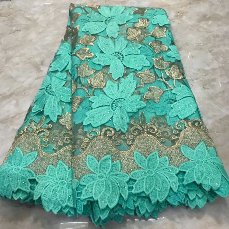 Embroideried Tulle French Mesh Lace Fabric With Stones 2019 High Quality Nigerian Ankara African Lace Fabrics For Women Material